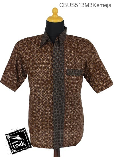 Baju Batik Sarimbit Blus Katun Motif Kawung Campuran