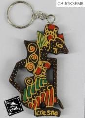 Gantungan Kunci Kayu Batik Wayang
