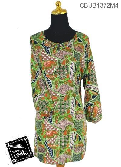 Baju Batik Blus Panjang Pekalongan Motif Kupu Jagad