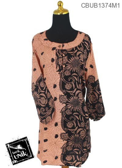 Baju Batik Terbaru  Blus Panjang Pekalongan Motif Matahari Oyot