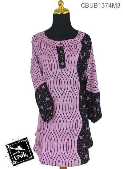 Baju Batik Blus Panjang Pekalongan Motif Matahari Oyot