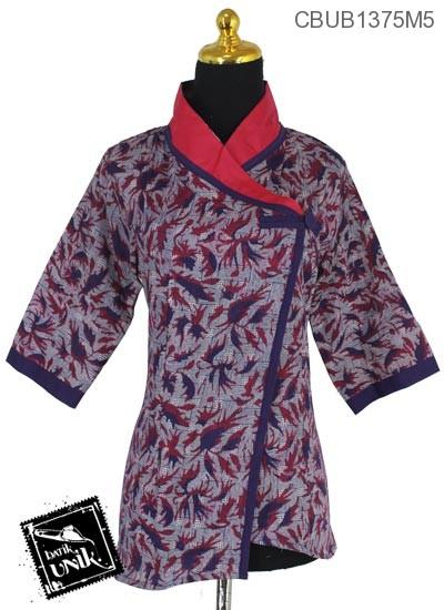 Baju Batik Blus tanggung Cap Motif