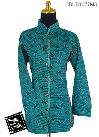 Baju Batik Blus Panjang Pekalongan Motif Cimeng Titik
