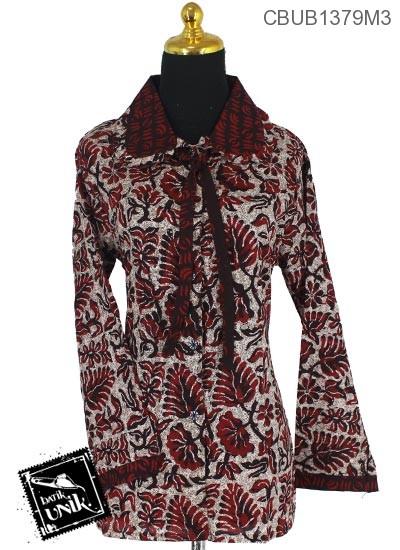 Blus Batik Panjang Motif Stemple Kembang