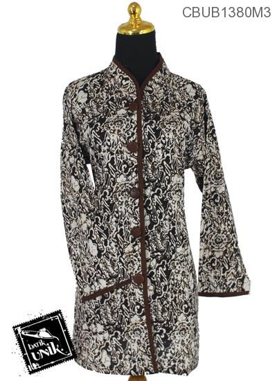 Baju Batik Blus Panjang Katun Motif Sogan Akar