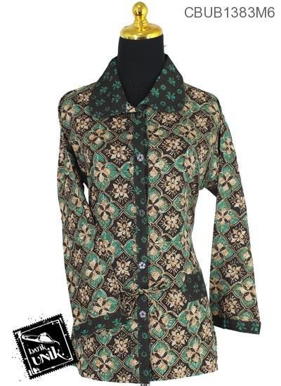 Baju Batik Blus Panjang Motif Purbanegaran Truntum