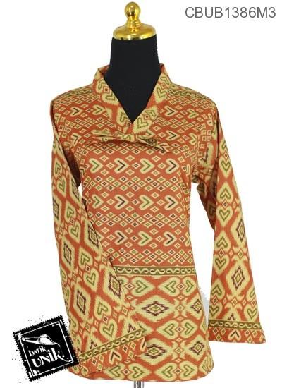 Baju Batik Blus ABG Panjang Motif Panah Songket