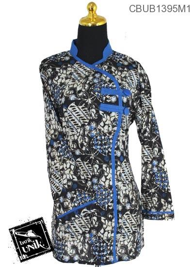 Blus Batik Terbaru  Panjang Pekalongan Motif Sogan Kembang Warna II