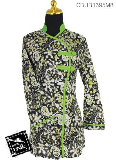 Blus Batik Panjang Pekalongan Motif Sogan Kembang Warna II