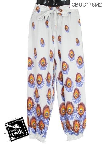 Celana Aladin Tali Motif Dakon Merak