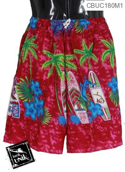 Celana Pendek Pantai Yogyakarta Motif Kembang Kambil