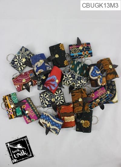 Gantungan Kunci Dompet Mini Motif Batik Kepulauan