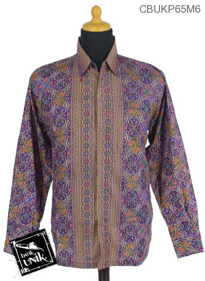 Baju Batik Kemeja Panjang Katun Motif Songket Manik
