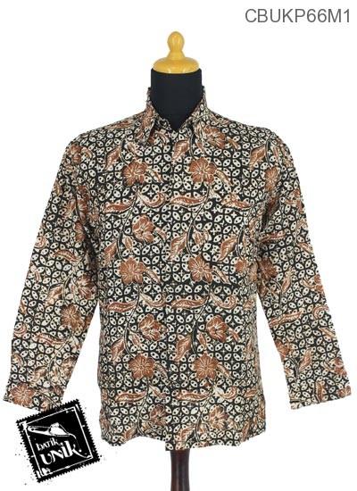 Baju Batik Terbaru  Kemeja Panjang Motif Sogan Alas