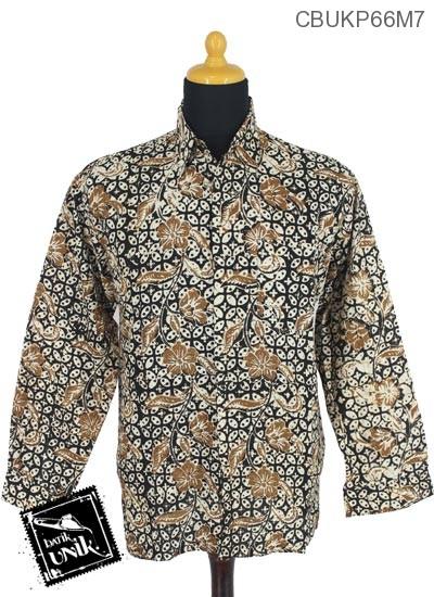 Baju Batik Kemeja Panjang Motif Sogan Alas