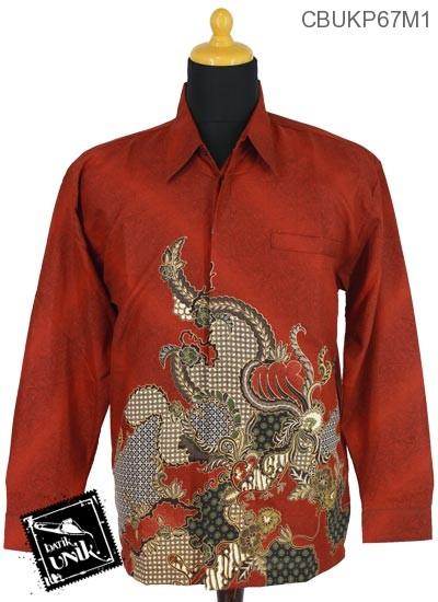 Baju Batik Kemeja Panjang Sunwash Motif Gradasi Jagad