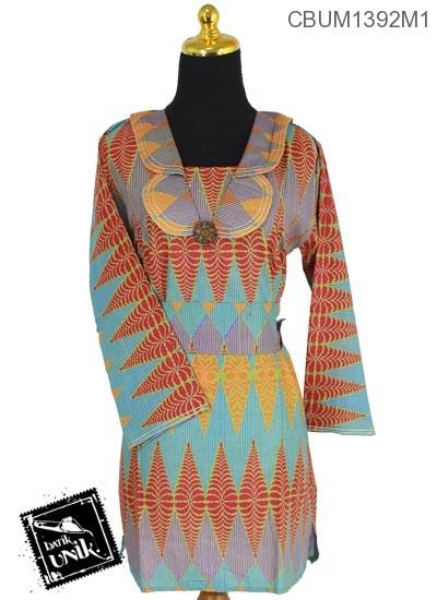 Blus Batik Terbaru  Panjang Katun Motif Rang Rang Cemoro