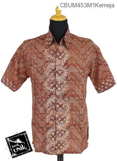 Baju Batik Sarimbit Blus Motif Daun Sisik Alas