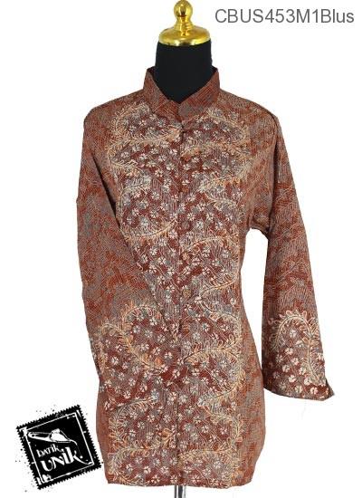 Baju Batik Terbaru  Sarimbit Blus Motif Daun Sisik Alas