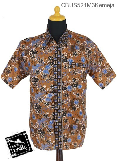 Baju Batik Sarimbit Blus Katun Motif Kembang Ceplok Tumpal