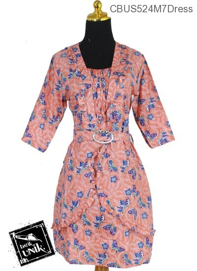 Sarimbit Dress Motif Aquarium Hewan