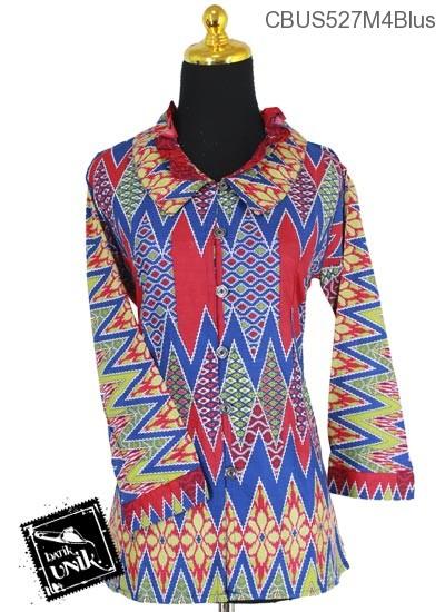 Baju Batik Sarimbit Blus Pekalongan Motif Pucuk Rebung Kembang