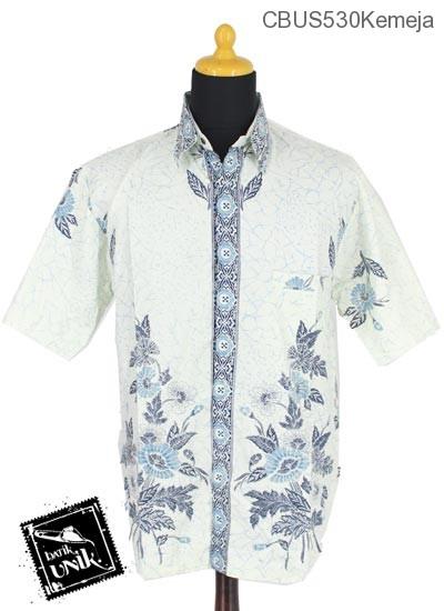 Baju Batik Sarimbit Kemeja Katun Motif Remekan Buket