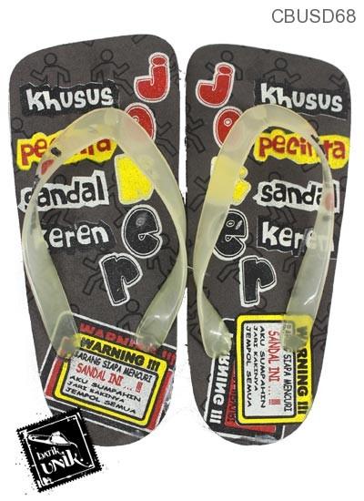 Sandal Spoon Motif Tulisan Orang