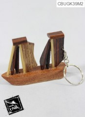 Gantungan Kunci Miniatur Kayu