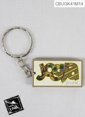 Gantungan Kunci Kayu Motif Tema Jogja