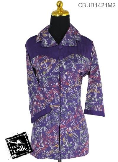 Baju Batik Blus Tanggung Katun Motif Godhong Krokot