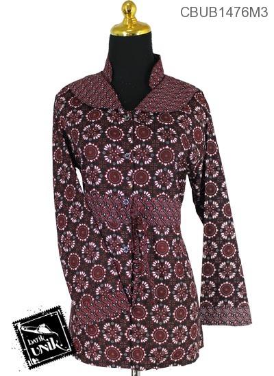 Blus Batik Panjang Pekalongan Motif Ceplok Matahari