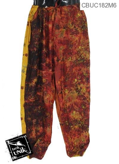 Celana Aladin Tali Motif Perca Kembang