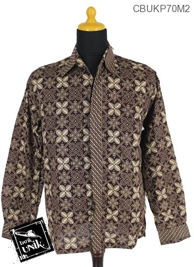 Baju Batik Kemeja Katun Motif Ceplok Balon