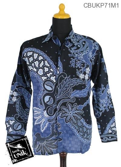 Baju Batik Terbaru  Kemeja Katun Motif Godhong Tirta