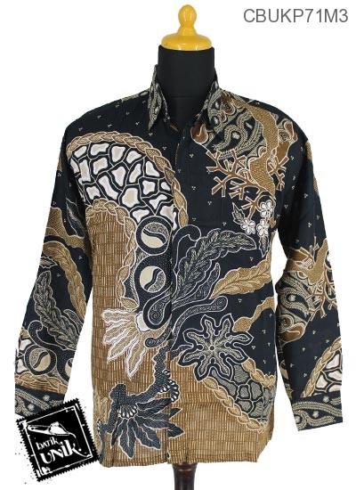Baju Batik Kemeja Katun Motif Godhong Tirta