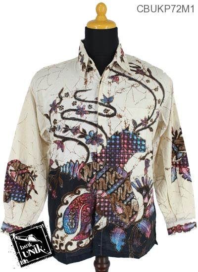 Baju Batik Terbaru  Kemeja Panjang Katun Motif Ceplok Runcing