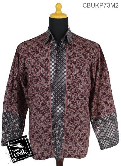 Baju Batik Kemeja Panjang Katun Motif Almod Truntum