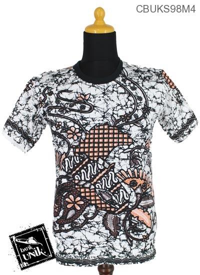 Kaos Batik Motif Kembang Ceplok Runcing