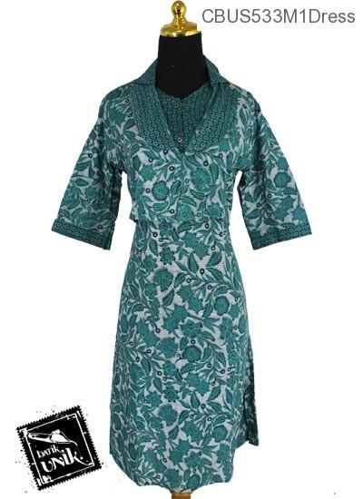 Sarimbit Dress Pisahan Motif Kembang Kipas Wulu