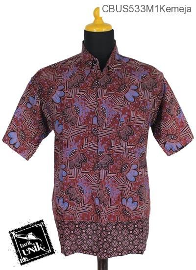 Baju Batik Sarimbit Blus Katun Motif Sayap Trenggiling
