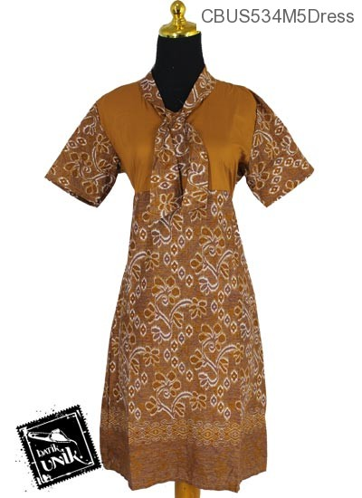 Baju Batik Sarimbit Dress Motif Anyam Kembang