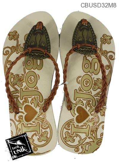 Sandal Batik Tali Kepang Kembang Indian