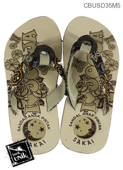 Sandal Batik Anak Tali Kancing Batok