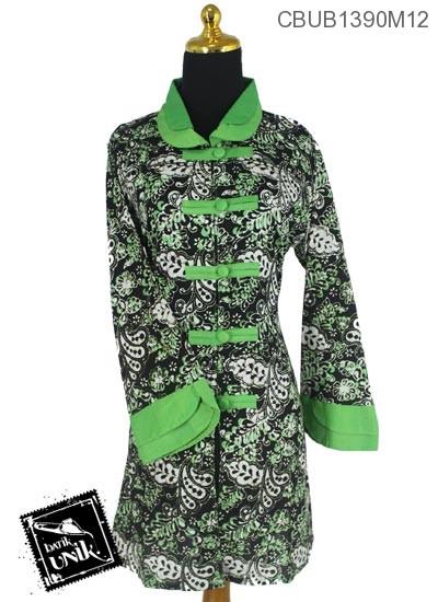 Baju Batik Blus Panjang Katun Motif Sogan Kembang Warna