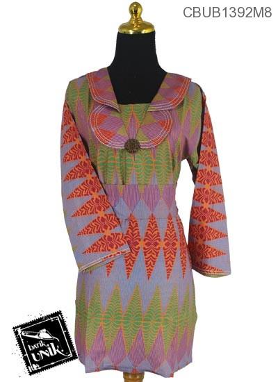 Blus Batik Panjang Katun Motif Rang Rang Cemoro