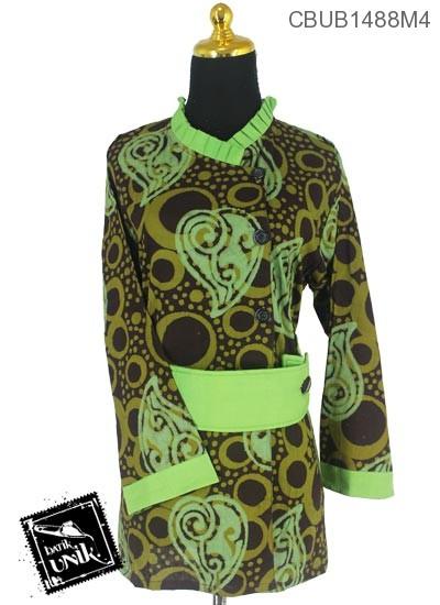 Blus Batik Panjang Motif Abstrak Kotemporer