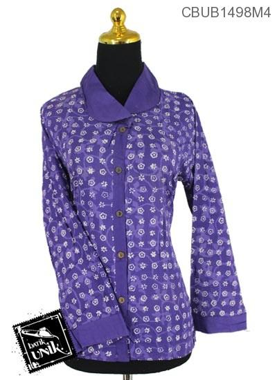 Blus Batik Panjang Motif Ceplok Salur