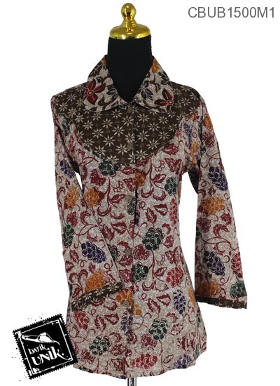 Blus Batik Panjang Motif Kembang Angur