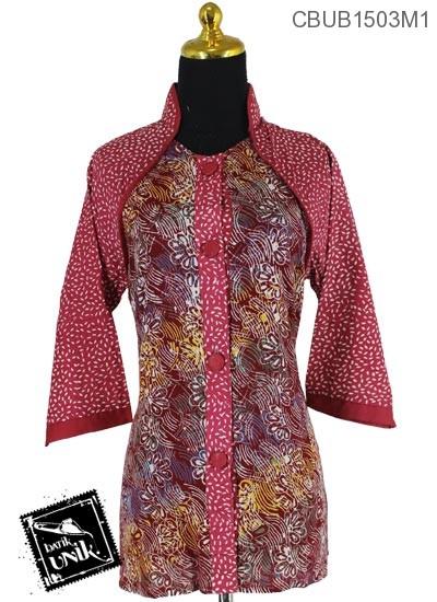 Baju Batik Terbaru  Blus Tanggung Katun Motif Gordon Winih